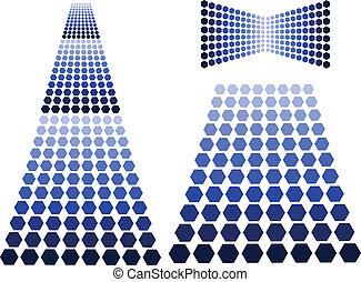 blauwe , communie, ontwerp