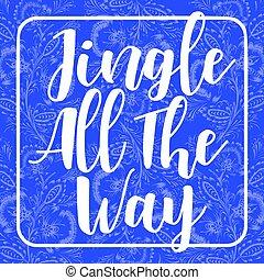 blauwe , composition., alles, achtergrond, ornament, ijzig, weg, uitnodiging, floral, jingle, verfraaide, vakantie, kaart