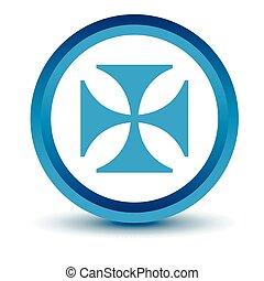 blauwe , crusaders, pictogram