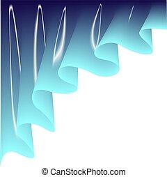 blauwe , curtain., licht