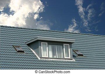 blauwe , dak