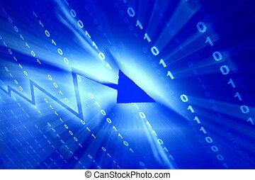 blauwe , data, ruimte