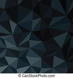 blauwe diamant, illustratie, model, abstract, donker,...