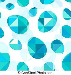 blauwe diamant, model, eitjes, seamless, vector