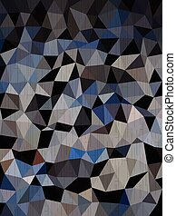 blauwe , donker, black , driehoeken, achtergrond