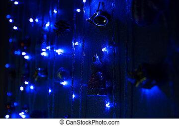 blauwe , donker, guirlande