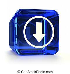 blauwe , downloaden, pictogram