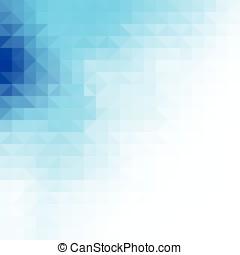 blauwe driehoek, achtergrond