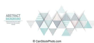 blauwe driehoek, model, abstract, streep, achtergrond, lijn