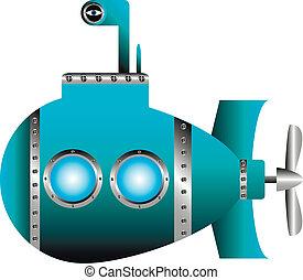 blauwe , duikboot