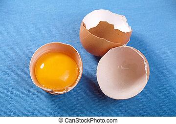 blauwe , eitjes, op