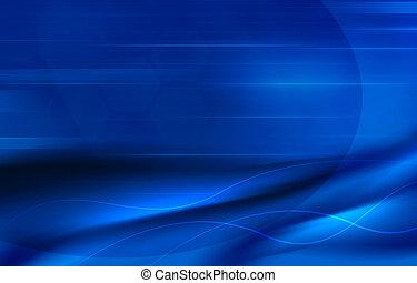 blauwe , elegant, abstract, achtergrond, golven