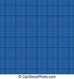 blauwe , elektrisch, pattern., seamless, vector, zonnepaneel