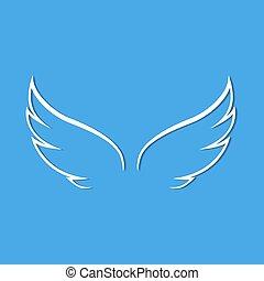 blauwe engel, vleugels, achtergrond