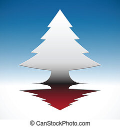 blauwe , eps10, boompje, abstract, hemel, achtergrond., kerstmis, 3d
