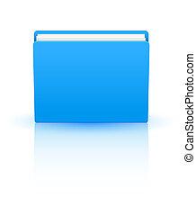 blauwe , eps10, vrijstaand, achtergrond., vector, map, witte