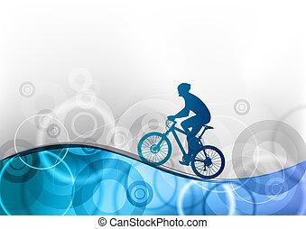 blauwe , fietser