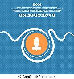 blauwe , flecked, ruimte, vijzel, teken., mijn, abstract, vector, achtergrond, tekst, witte , pictogram, jouw, design.