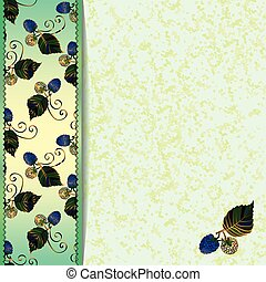 blauwe , frame, braambessen