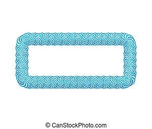 blauwe , frame, lollipop, rechthoek