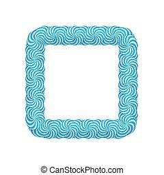 blauwe , frame, plein, lollipop