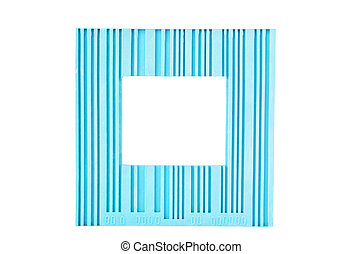 blauwe , frame, witte , vrijstaand