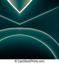 blauwe , gedaantes, symmetrie, kleur, papier, groene, ...