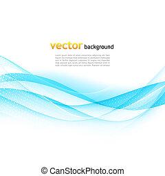 blauwe , gegolfd, kleurrijke, abstract, vector, achtergrond