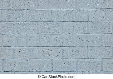 blauwe , gekleurde, verweerd, muur, bevlekte, textuur, blok