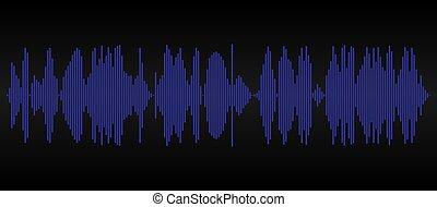 blauwe , geluid, grafisch, hardloop wedstrijd, track., achtergrond., black , audio