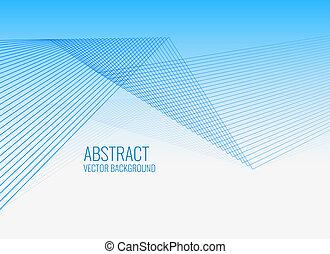 blauwe , geometrisch, lijnen, abstract, achtergrond
