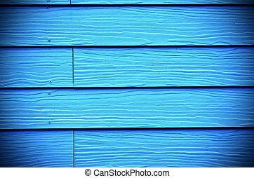 blauwe , geverfde, hout, achtergrond, nieuw