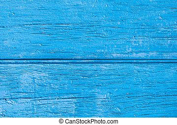 blauwe , geverfde, oud, grondslagen, houten