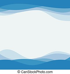 blauwe golf, concept, abstract, vector, achtergrond