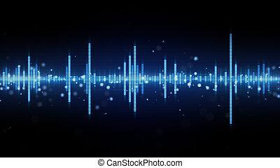 blauwe , golfvorm, audio, equalizer