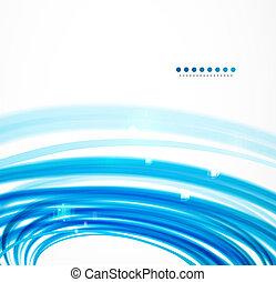 blauwe , golvend, lijnen