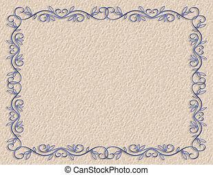 blauwe , grens, grof, papier
