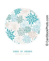 blauwe , grijs, decor, model, planten, achtergrond, cirkel