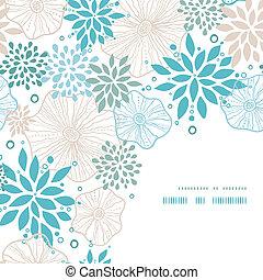 blauwe , grijs, decor, model, planten, achtergrond, hoek