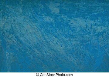 blauwe , grijs, geverfde, textuur, metalen, muur, ijzer