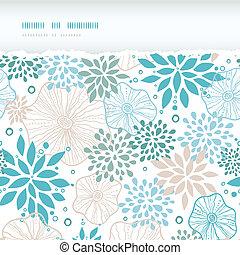 blauwe , grijs, model, gescheurd, seamless, planten, vector, achtergrond, horizontaal