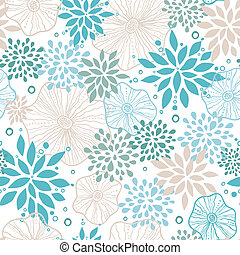 blauwe , grijs, model, seamless, planten, achtergrond