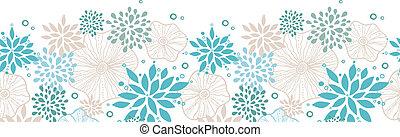 blauwe , grijs, model, seamless, planten, achtergrond, horizontaal