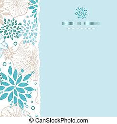 blauwe , grijs, plein, model, gescheurd, seamless, planten, achtergrond