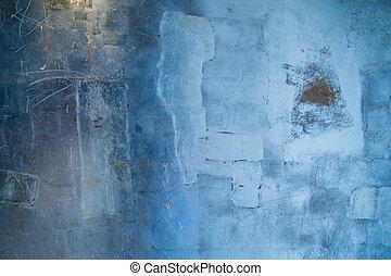 blauwe , grunge, achtergrond, textuur
