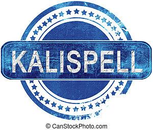 blauwe , grunge, kalispell, vrijstaand, stamp., white.