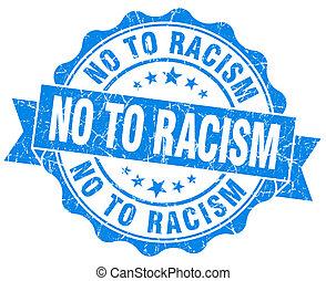blauwe , grunge, nee, vrijstaand, racisme, zeehondje, witte