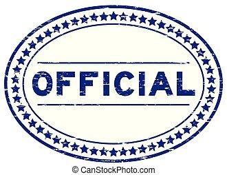 blauwe , grunge, postzegel, officieel, rubber, achtergrond, zeehondje, ovaal, witte