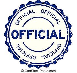 blauwe , grunge, postzegel, officieel, rubber, achtergrond, zeehondje, witte , ronde