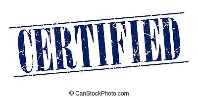 blauwe , grunge, postzegel, ouderwetse , vrijstaand, achtergrond, witte , verklaard